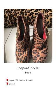 Leopard high heels shoes