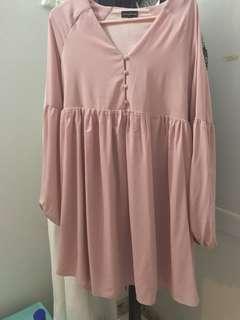 Something Borrowed Button Down Babydoll Dress
