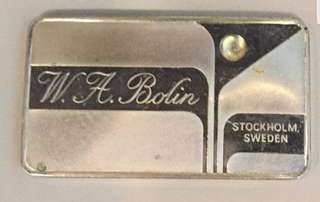 SOLID SILVER GEM INGOT W.A. BOLIN from STOCKHOLM SWEDEN
