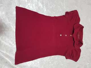 Kamiseta maroon polo shirt
