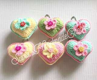 💕 Teacher's Day Special Crochet Heart Bag charm