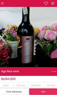 Wine aga red