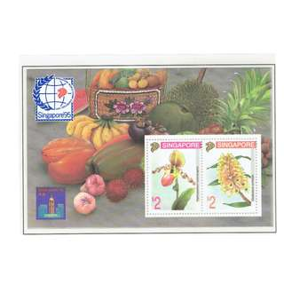 1994 02 Miniature Sheet  Singapore 95 Orchid Series (4th Series)