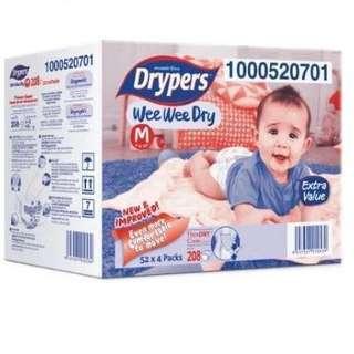 Drypers Wee Wee Dry M52 #baby30