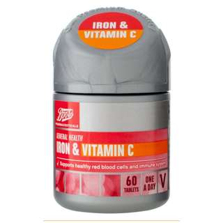 New! Boots IRON & VITAMIN C 60 Tablets