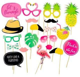 Summer tropical flamingo Photo Booth Props