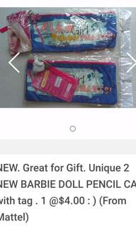 Best for Gift. 2 New Barbie Doll Pencil Case. NEW Selaed High Monster Lunchbox with spoon and fork. 2 free Teachers Day gift.