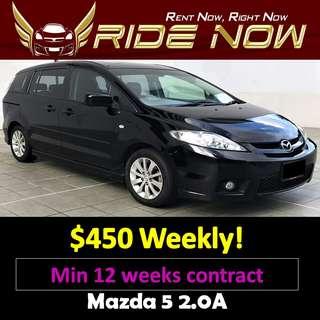 Mazda 5 2.0A Long Term Car Rental