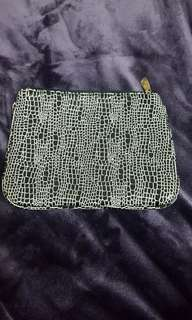 Colette black and white small pouch