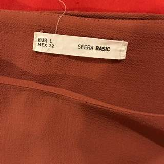 Sfera blouse flowy rust colored size L