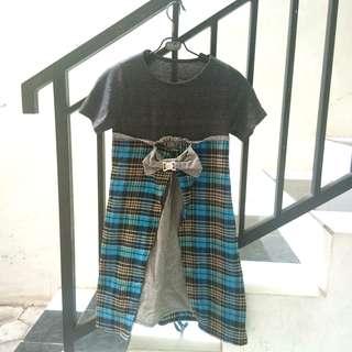 #maudecay Cute grey combinations dress
