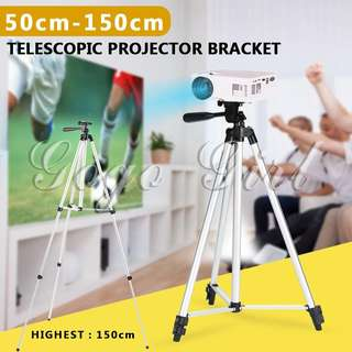 【Ready Stock】Triangular Scaffold Camera Tripod Silvery Aluminum Magnesium Alloy + Universal Cell Phone Tripod Mout
