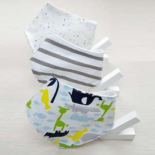 Pack of 3 Reversible Baby Bandana Drool Baby Bibs