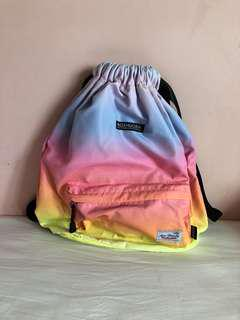 Pastel draw string backpack