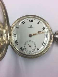 1930s Omega 純銀上錬袋表
