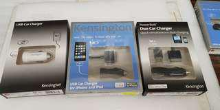 Kensington POWERBOLT DUO CAR CHARGER AND SINGLE CAR CHARGER
