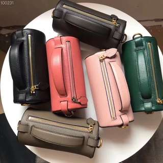Burberry Cylinder Leather Shoulder Bag