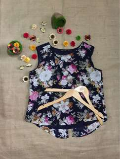 For Me Floral Sleeveless Top