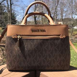 Michael Kors Hailee XS Brown Acorn With Longstrap