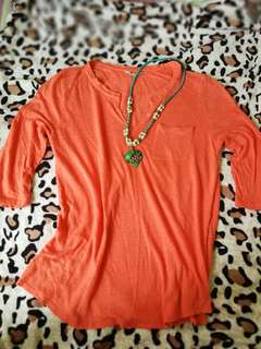 Peasant Orange Shirt