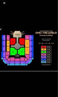 2 ticket Wanna One Concert Cat 2 Original price