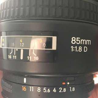 Nikon lens 85 1.8D