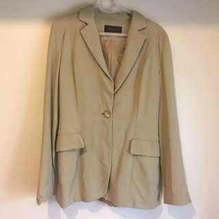 Dark cream office coat
