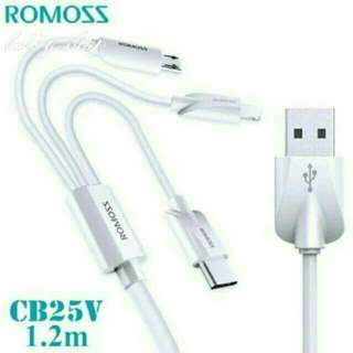 3n1 ROMOSS lightning cable original P260 ONLY
