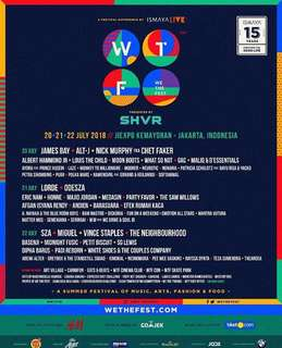We The Fest 2018 3 day pass GA