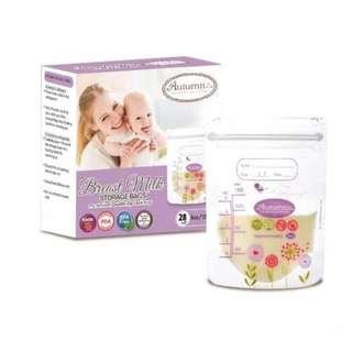 Autumnz Double Zip Lock Breast Milk Storage Bag 28 pcs 5oz