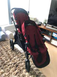 City select baby jogger double stroller 孖車