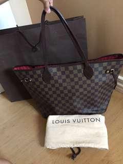 Authentic Louis Vuitton Damier ebene Neverfull MM