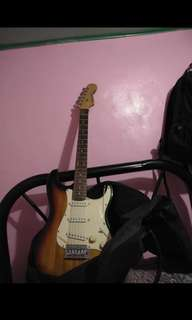 electric guitar with ampli