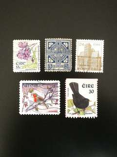 Ireland Stamps (Mix of 5)