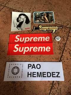 Supreme Sticker Pack w/ Pin