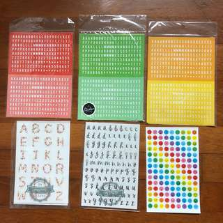 [SALE] Alphabet And Emoji Stickers