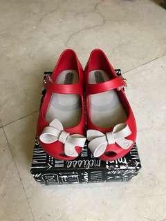 Mini Melissa original red girls shoes