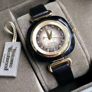 英國潮牌 Vivienne Westwood Watch 真皮錶帶 丘比特之箭 女士 手錶 腕錶 30mm (WT47-365)