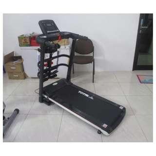 Treadmill Elektrik TL607 Motor DC 1.5 HP Alat Jogging 3 Fungsi
