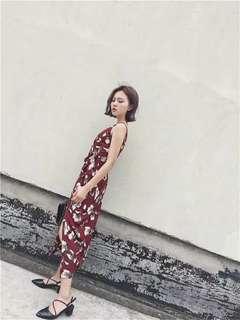 Midi dress / floral dress / Import dress