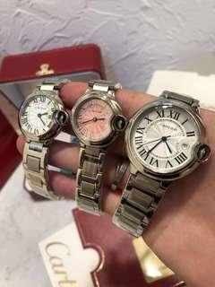 Cartier 藍氣球經典款 男女情侶款 手錶 腕錶