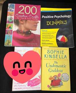 Assorted Books set of 3