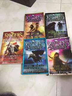 Ranger's apprentice books by John Flanagan