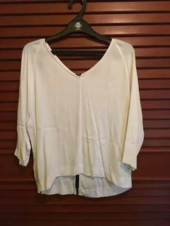 White Blouse By Topshop