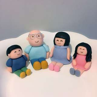 Customized people cupcake or cake fondant topper