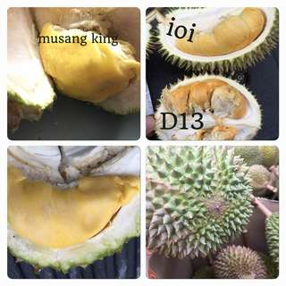 Fresh Musang King and i0i Durians