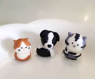 Customized pet animals dog cat cupcake or cake fondant topper
