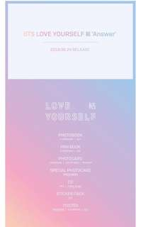 [NON PROFIT & INTERNAL TRADE] BTS LOVE YOURSELF: ANSWER ALBUM GO