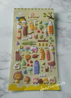 Animal Farm 3D Puffy Stickers