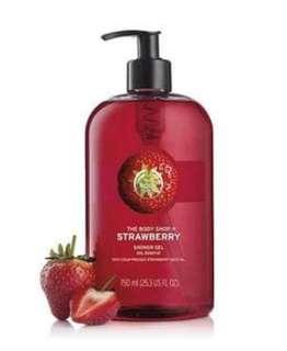 The Body Shop Strawberry Shower Gel (750ml)